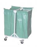 Тележка для перевозки белья медицинская металлическая ТПБ-04
