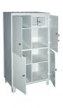 Шкаф медицинский металлический с сейфом (трейзером) ШС-01