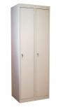 Шкаф двухсекционный металлический для одежды ШРС-12(400)