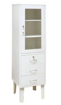 Косметологический шкаф медицинский одностворчатый ШМ 1-2Я
