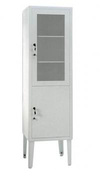Косметологический шкаф медицинский одностворчатый ШМ 1-2